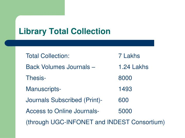 Library Total Collection