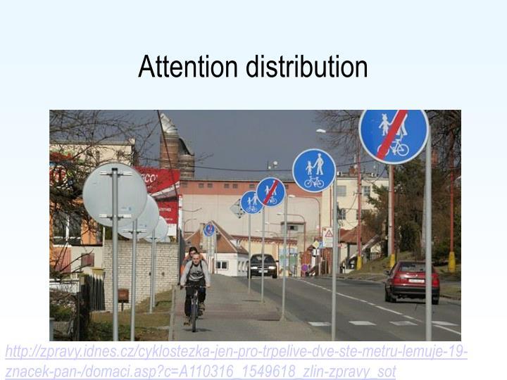Attention distribution