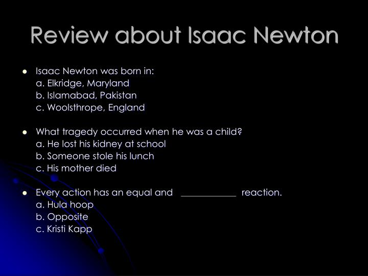 Review about Isaac Newton