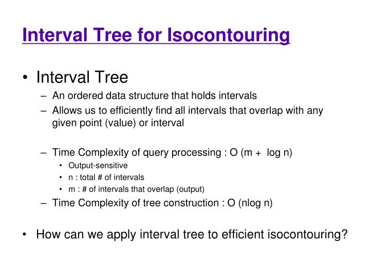 Interval Tree for Isocontouring