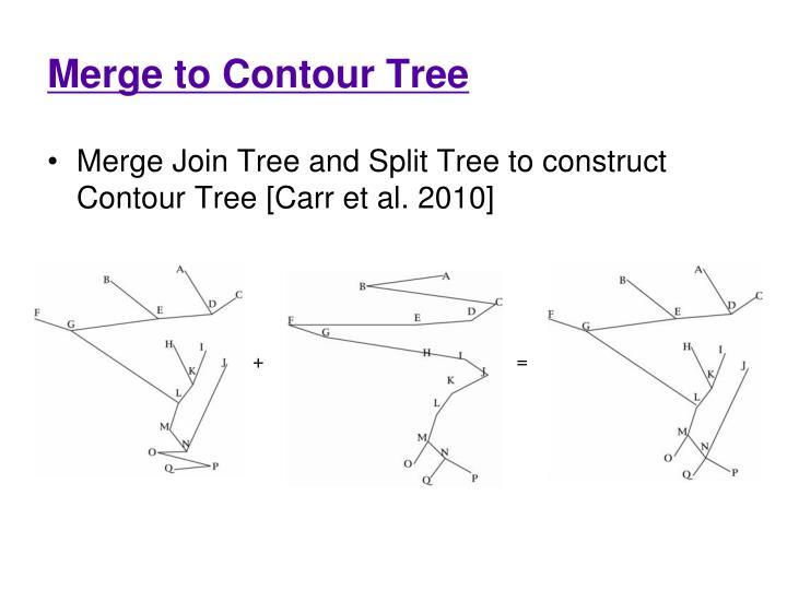 Merge to Contour Tree