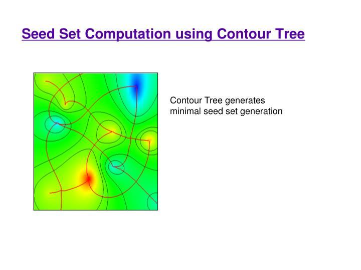 Seed Set Computation using Contour Tree