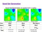 seed set generation k seeds from n cells