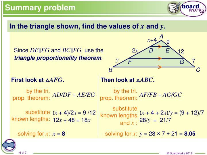 Summary problem