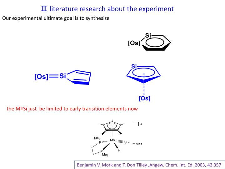 Ⅲ literature research about the experiment
