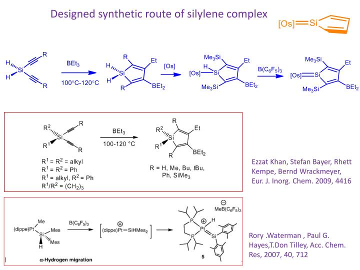 Designed synthetic route of silylene complex
