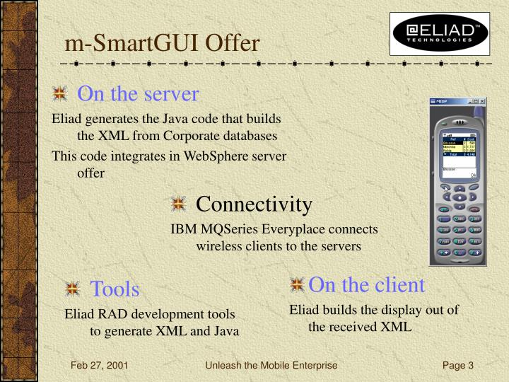 M smartgui offer