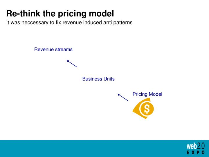 Re-think the pricing model