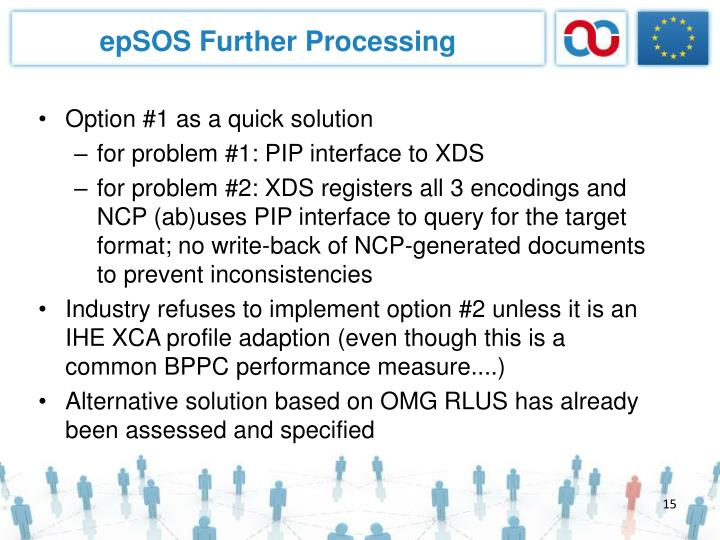 epSOS Further Processing