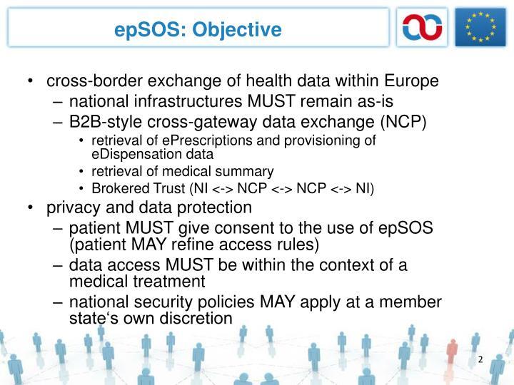 epSOS: Objective