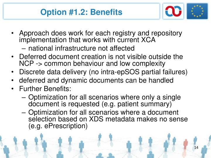 Option #1.2: Benefits