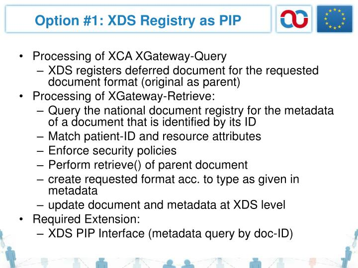 Option #1: XDS Registry as PIP