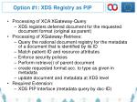 option 1 xds registry as pip