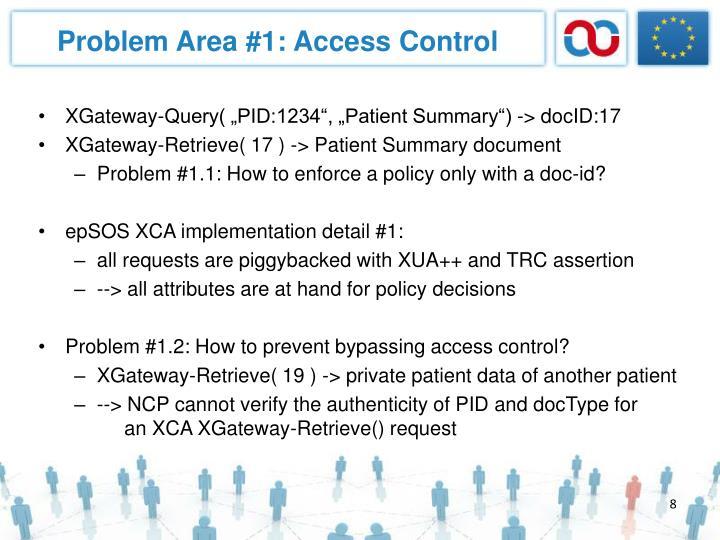 Problem Area #1: Access Control