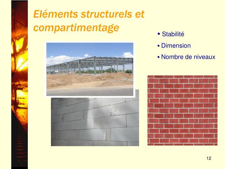 Eléments structurels et compartimentage