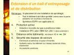 extension d un hall d entreposage et de distribution1