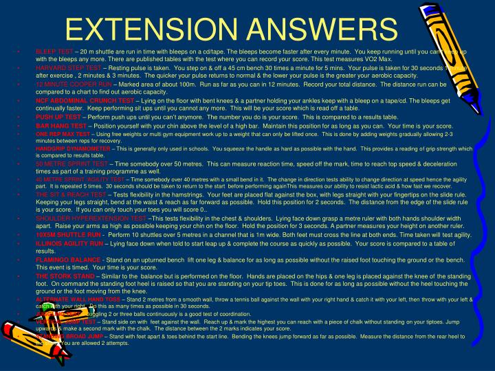 EXTENSION ANSWERS