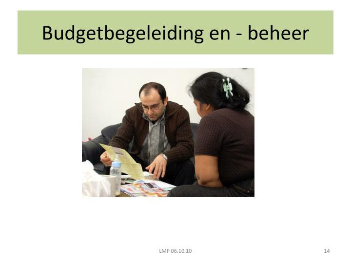 Budgetbegeleiding en - beheer