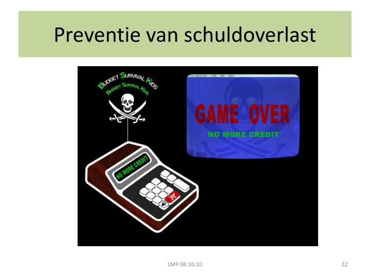 Preventie van schuldoverlast