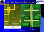 integrated receiver microcircuits