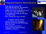 integrated submm wave receiver