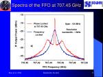 spectra of the ffo at 707 45 ghz