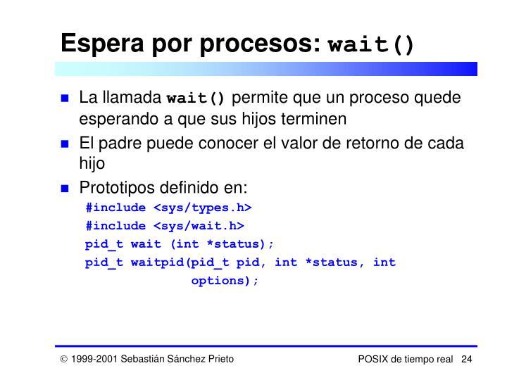 Espera por procesos: