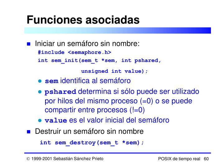 Funciones asociadas