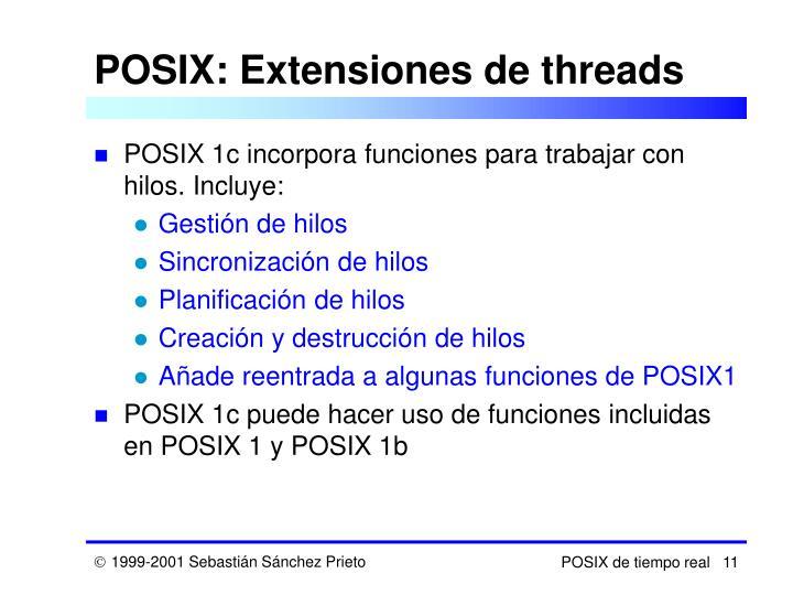 POSIX: Extensiones de threads