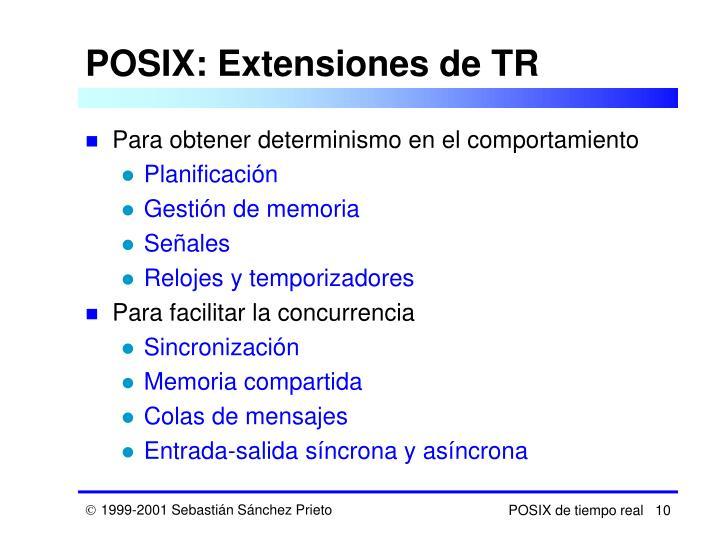 POSIX: Extensiones de TR