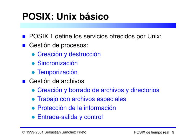 POSIX: Unix básico
