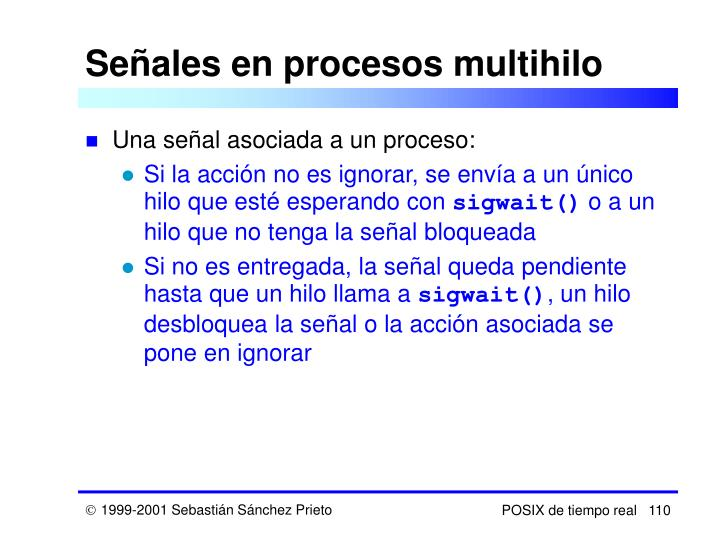 Señales en procesos multihilo