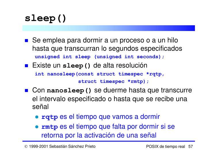 sleep()