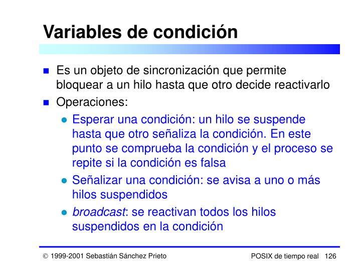 Variables de condición