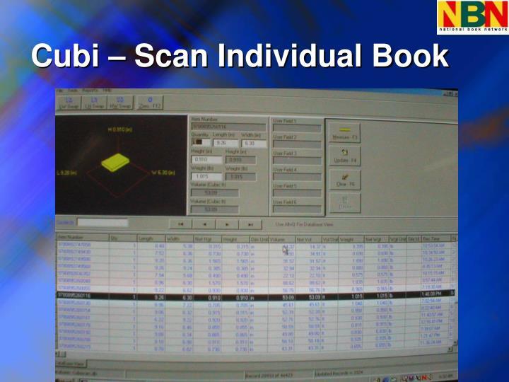 Cubi – Scan Individual Book