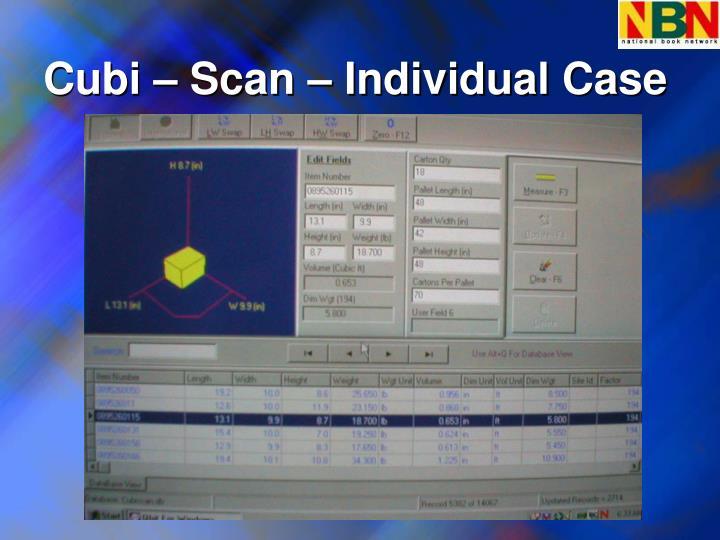 Cubi – Scan – Individual Case