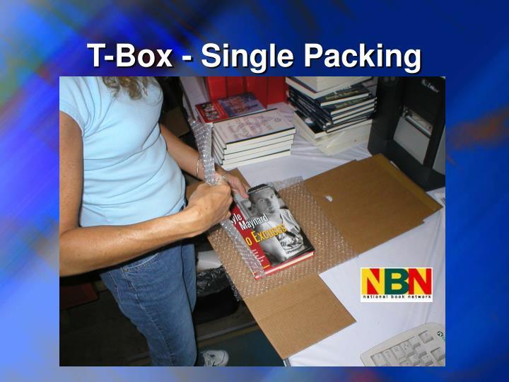 T-Box - Single Packing