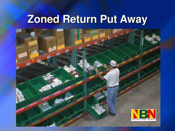 Zoned Return Put Away