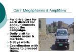 cars megaphones amplifiers