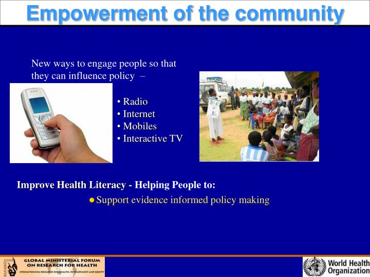 Support evidence informed policy making