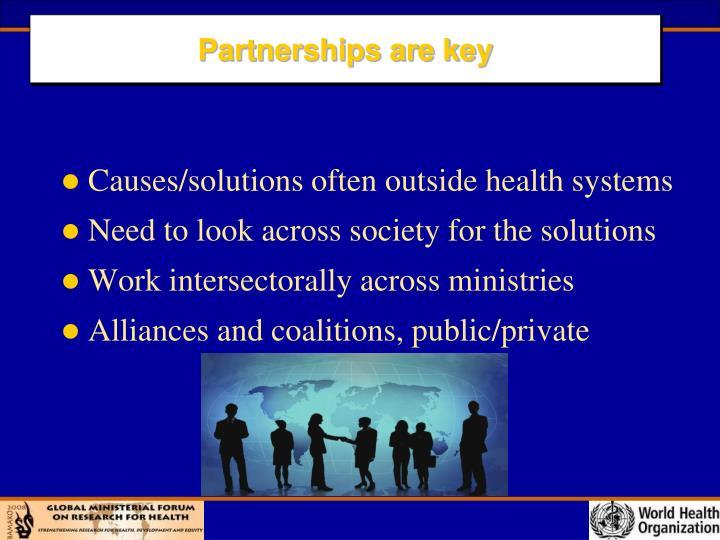 Partnerships are key