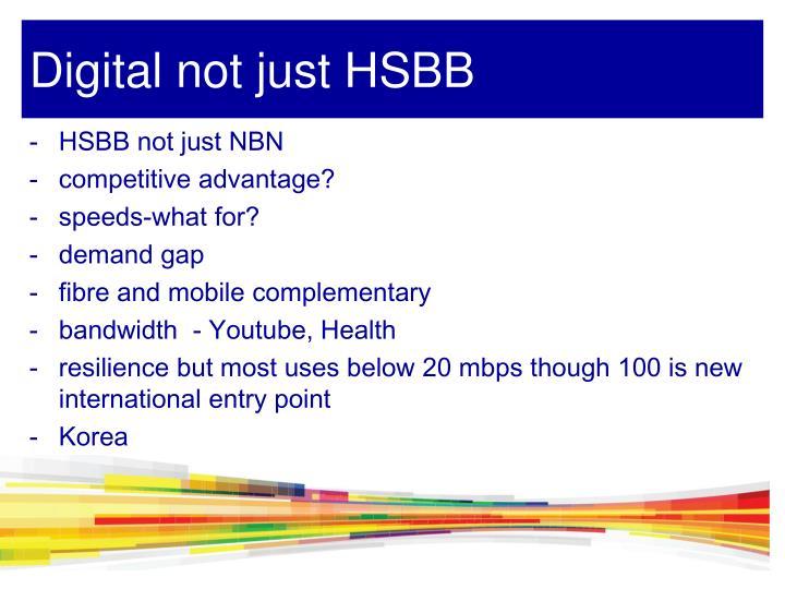 HSBB not just NBN