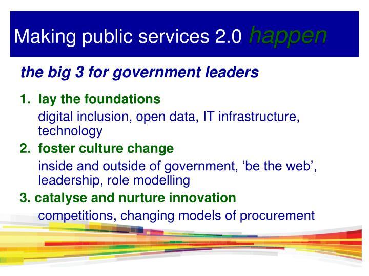 Making public services 2.0
