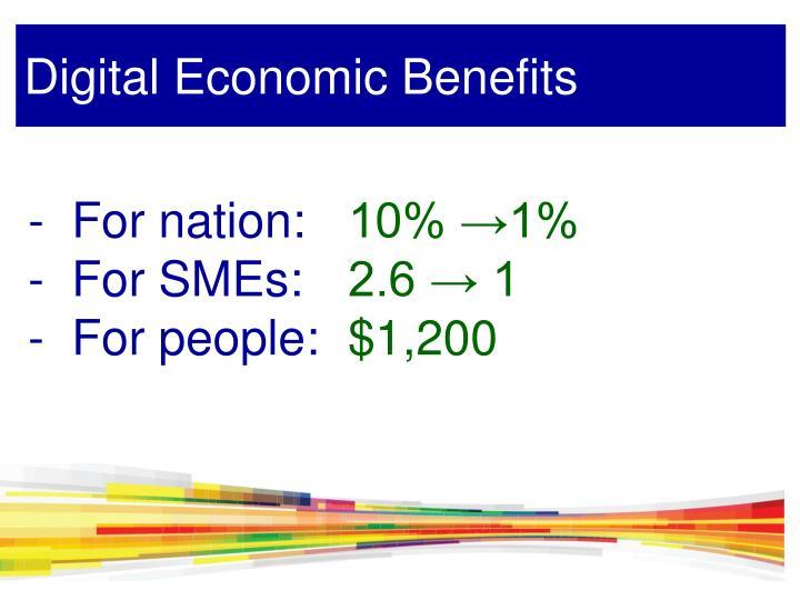 Digital Economic Benefits