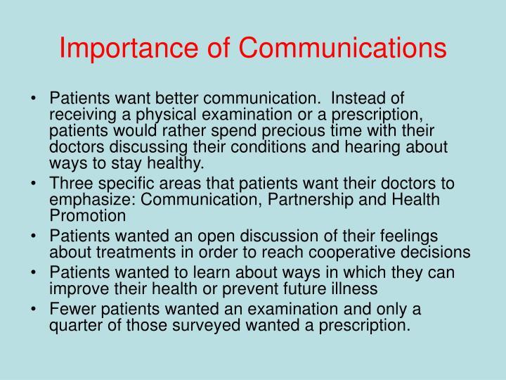 Importance of Communications