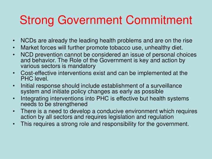 Strong Government Commitment