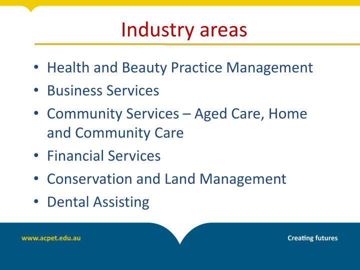 Industry areas