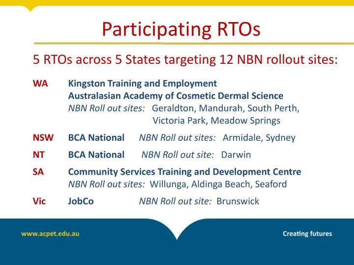 Participating RTOs