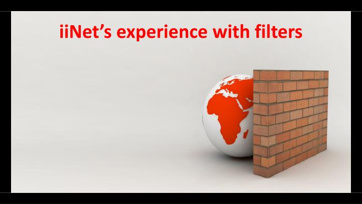iiNet's experience with filters