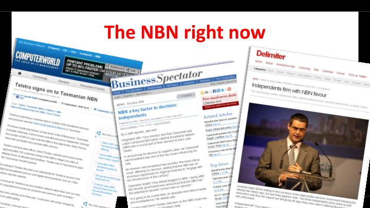 The NBN right now